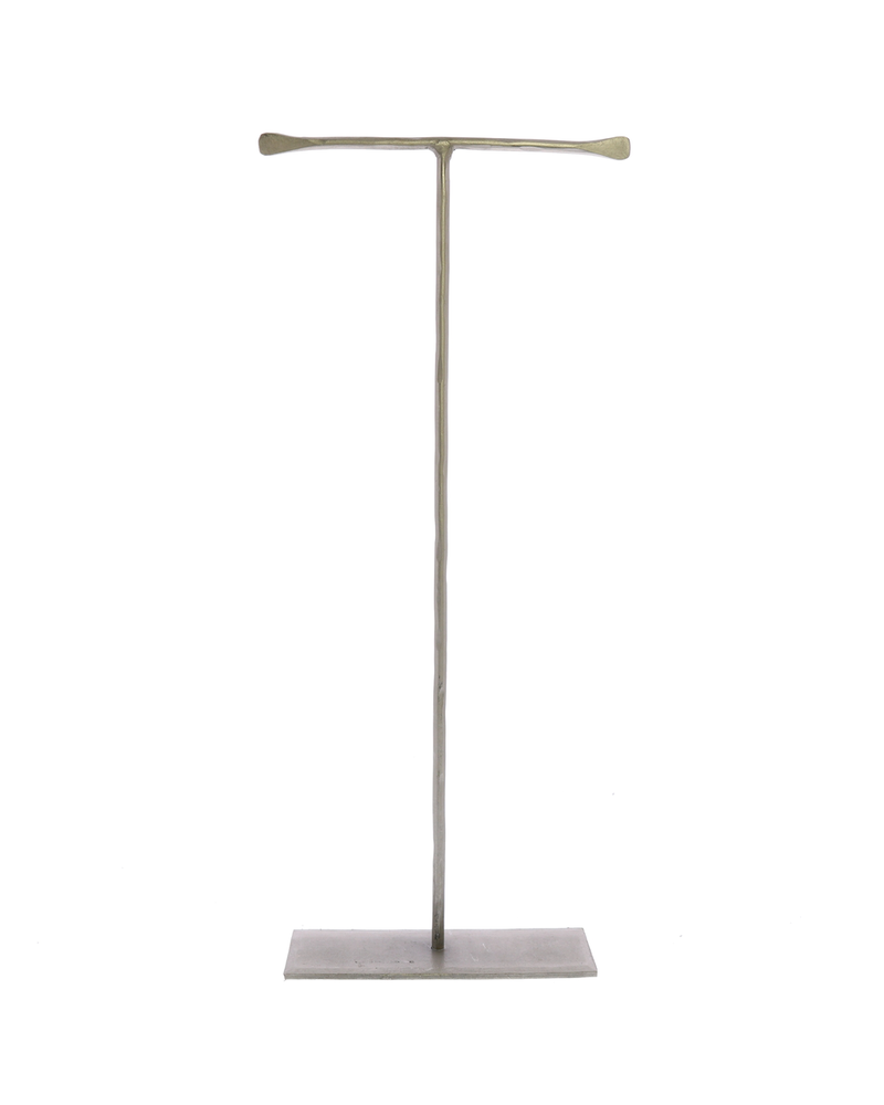 HomArt Maddox Forged Iron Jewelry T Stand - Extra Tall 16 - Silver