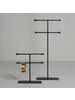 HomArt Maddox Forged Iron Jewelry Double T Stand - Med 7.5 - Black