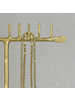 HomArt Maddox Forged Iron Jewelry T Stand With Pegs - 14 - Brass