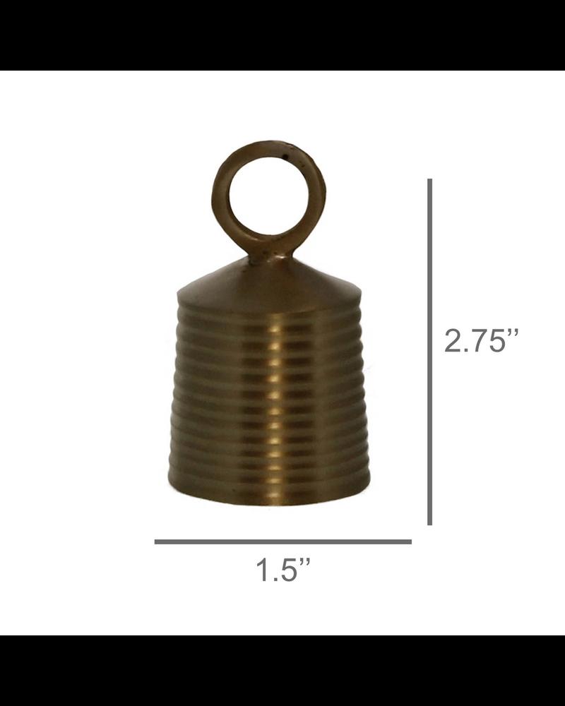 HomArt Banded Bell, Brass - Brass