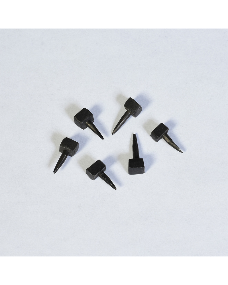 HomArt Black Forged Iron Thumb Nail - Set of 12