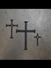 HomArt Large Black Forged Iron Cross