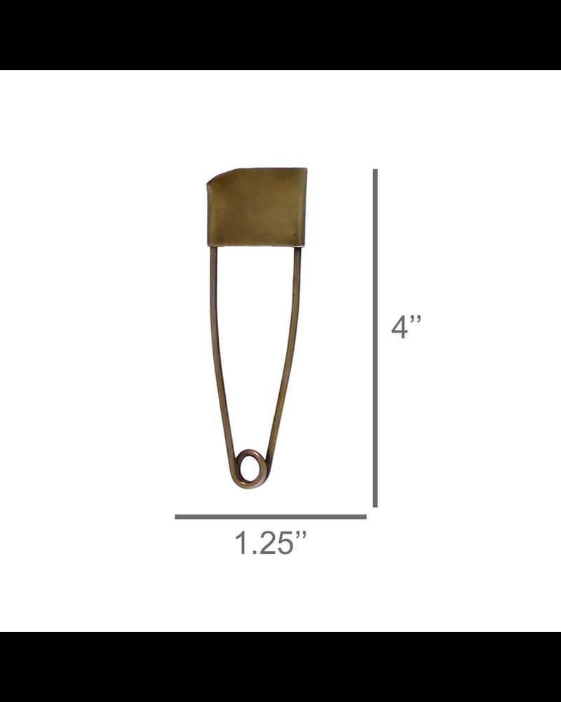 HomArt Large Brass Safety Pin - Set of 2