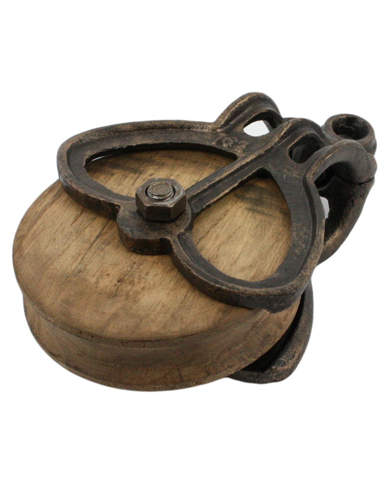 HomArt Iron and Wood Pulley