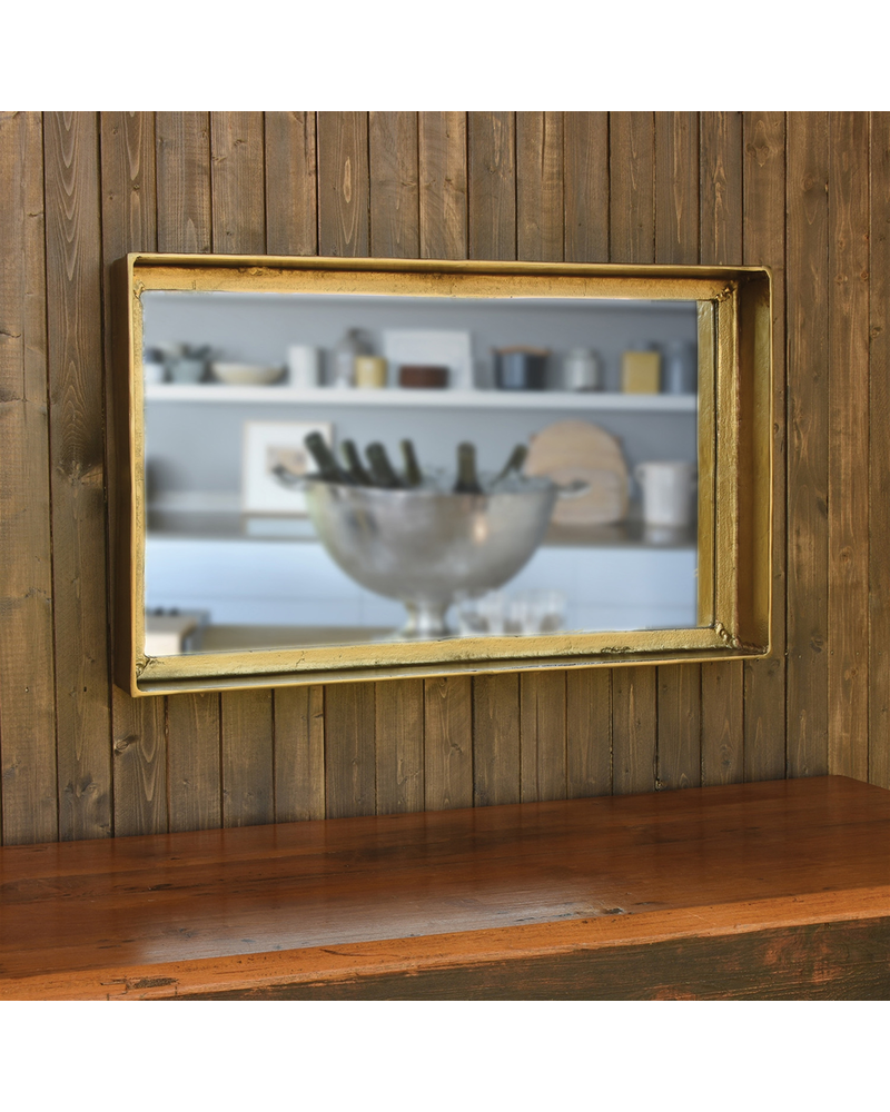 HomArt Buren Mirror, Brass - Brass