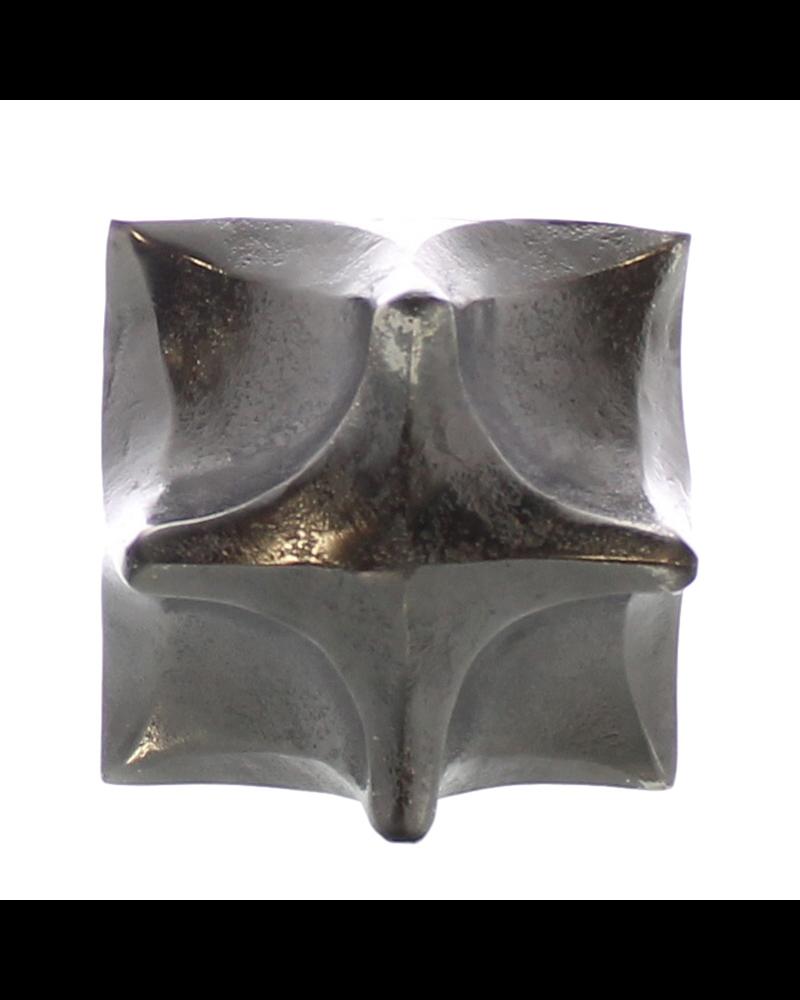 HomArt Morphed Cube, Raw Nickel - Sm