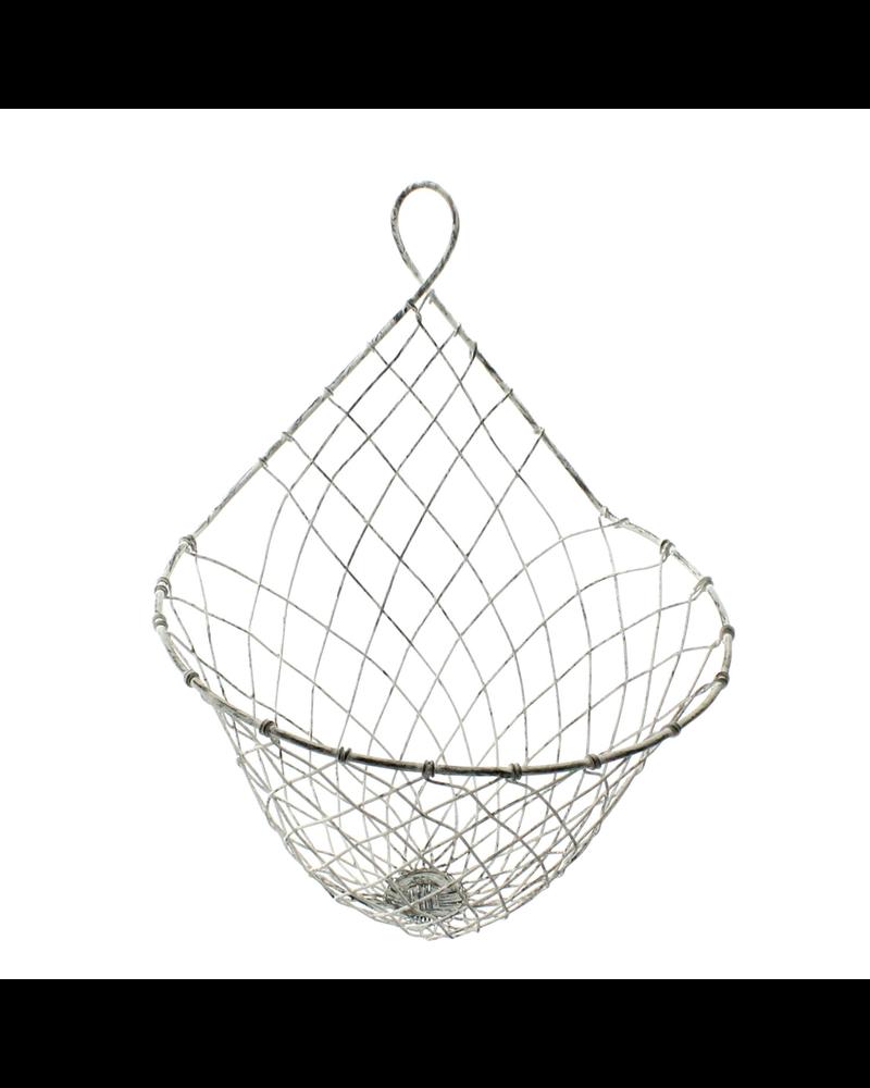 HomArt Large Otis Wire Wall Basket - Zinc Whitewash