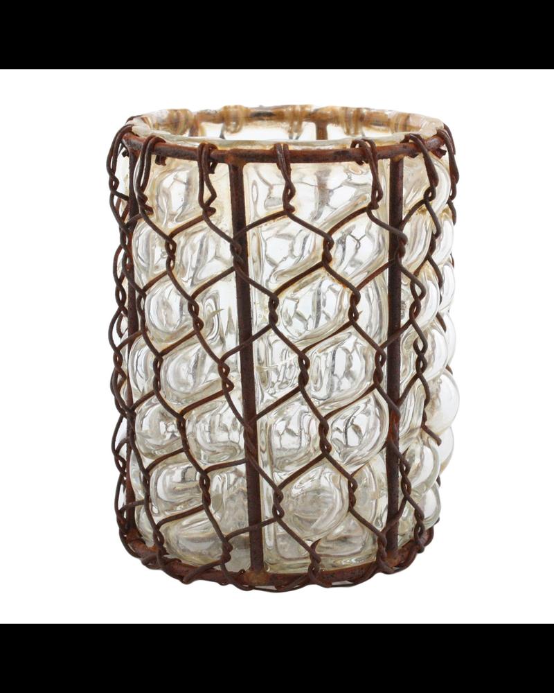 HomArt Vallarta Glass Vase - Sm - Rust