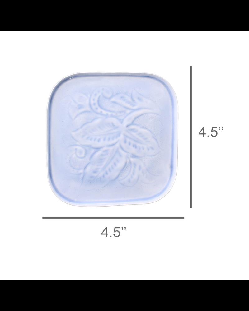 HomArt Blue Tilda Enamel Coaster - Set of 2