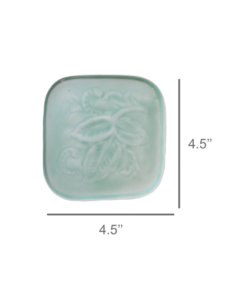 HomArt Teal Tilda Enamel Coaster - Set of 2