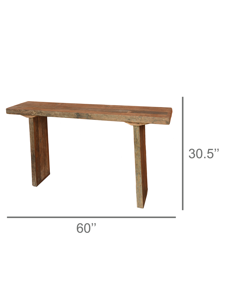 HomArt Arcadia Console Table, Reclaimed Wood