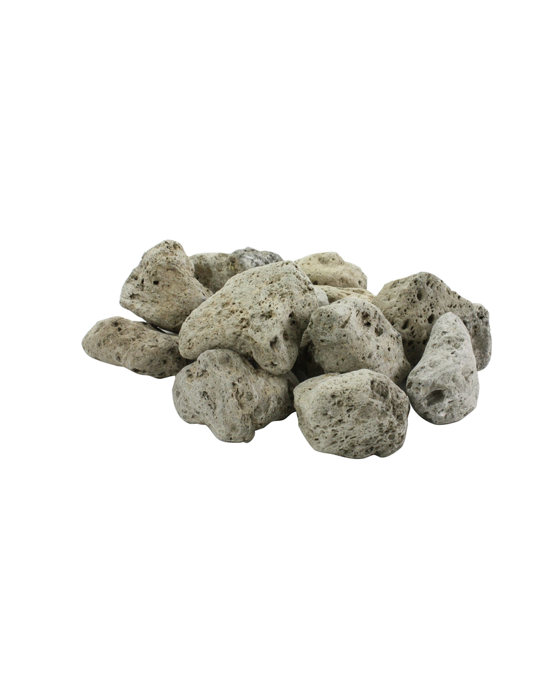 HomArt Bag of Lava Rocks - Light Grey - Set of 2 Bags