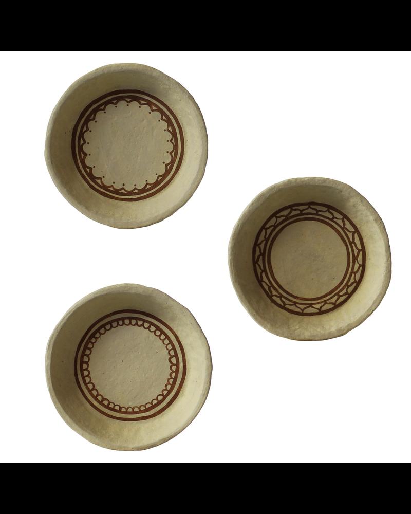 HomArt Kashmir Bowl, Paper Mache - Sm, Assorted