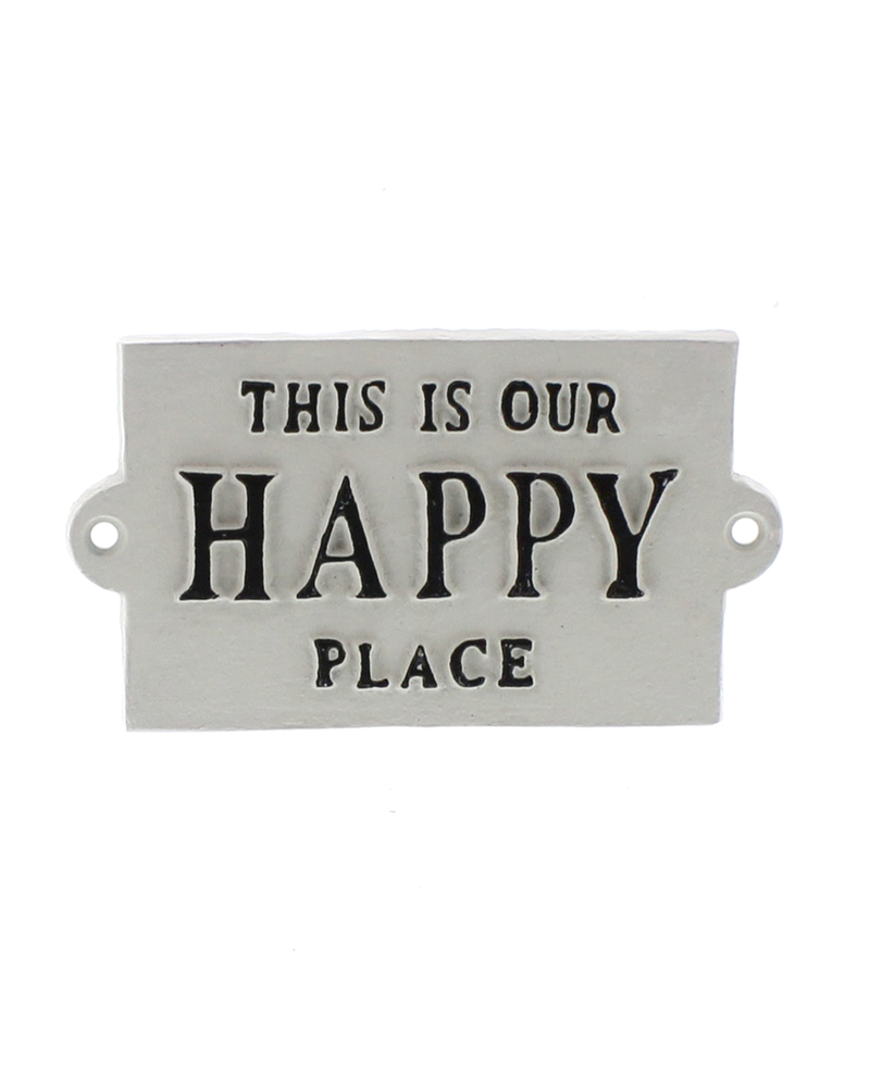 HomArt Cast Iron Sign - Happy Place - Happy Place