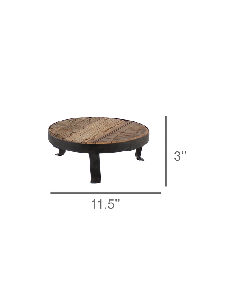 HomArt Remington Pedestal, Wood & Iron - Sm