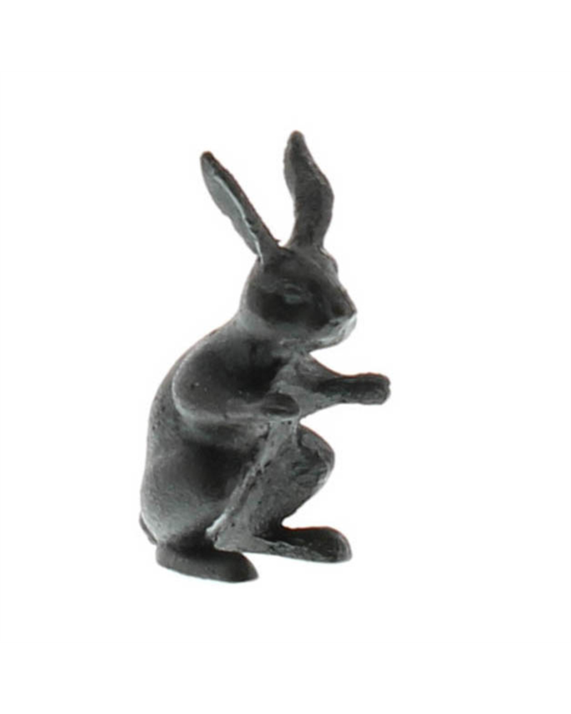 HomArt Black Curious Rabbit - Cast Iron Hare - Set of 2