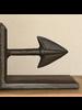HomArt Arrow Cast Iron Bookends - Brown