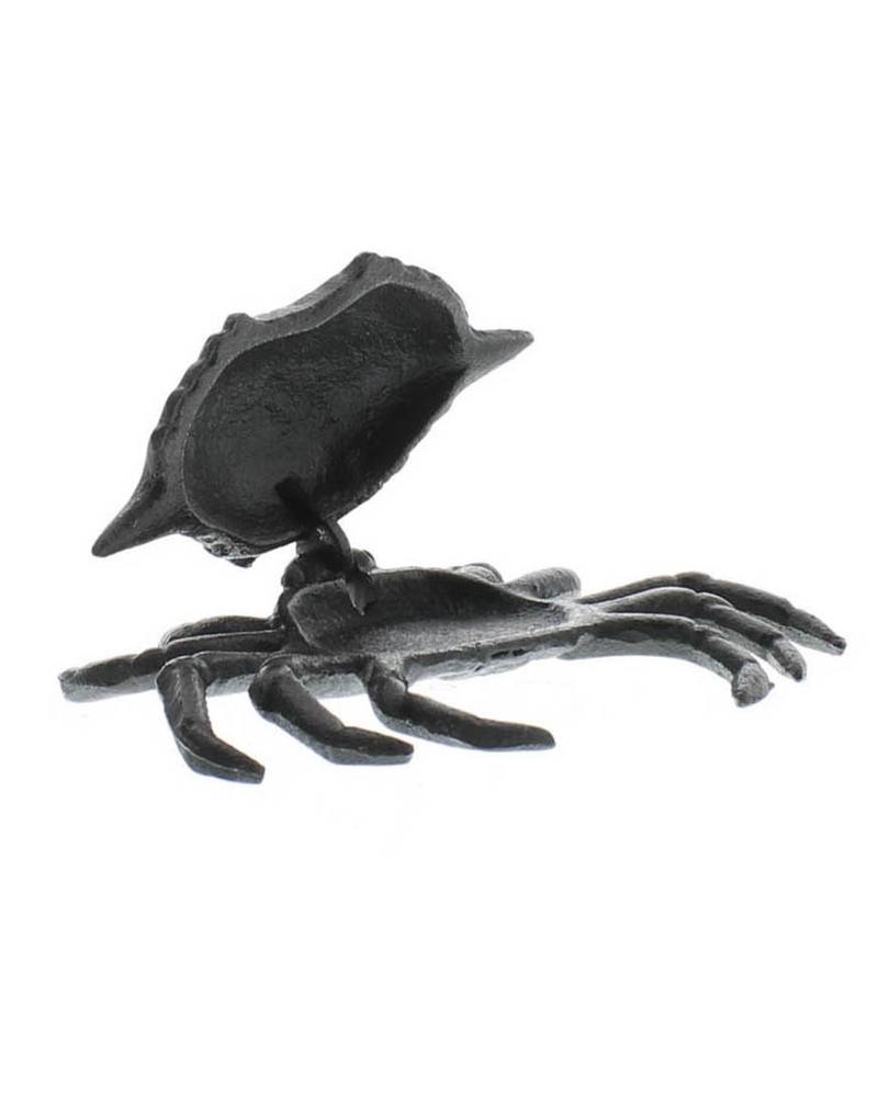 HomArt Crab Hinged Cast Iron Box - Antique Black