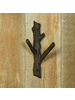 HomArt Faux Bois Cast Iron Wall Hook, Branch - Sm - Brown