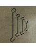 HomArt Forged Iron Link S Hook - 8 in - Antique Black - Set of 2