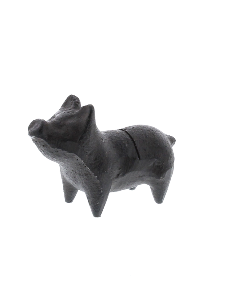 HomArt Brown Pig Cast Iron Place Card Holder - Set of 2