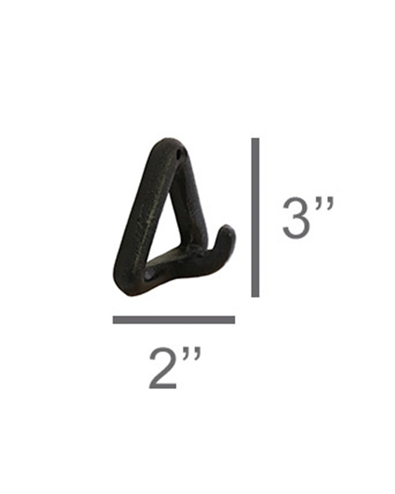 HomArt Black Cast Iron Duncan Triangle Hook - Set of 2