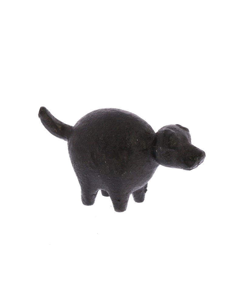 HomArt Botero Critter Dog, Cast Iron - Brown - Set of 2