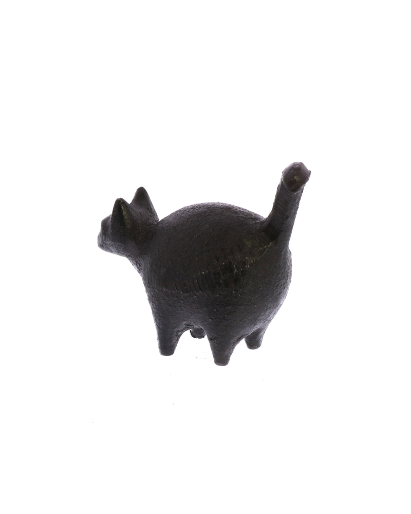HomArt Botero Critter Cat, Cast Iron - Brown - Set of 2