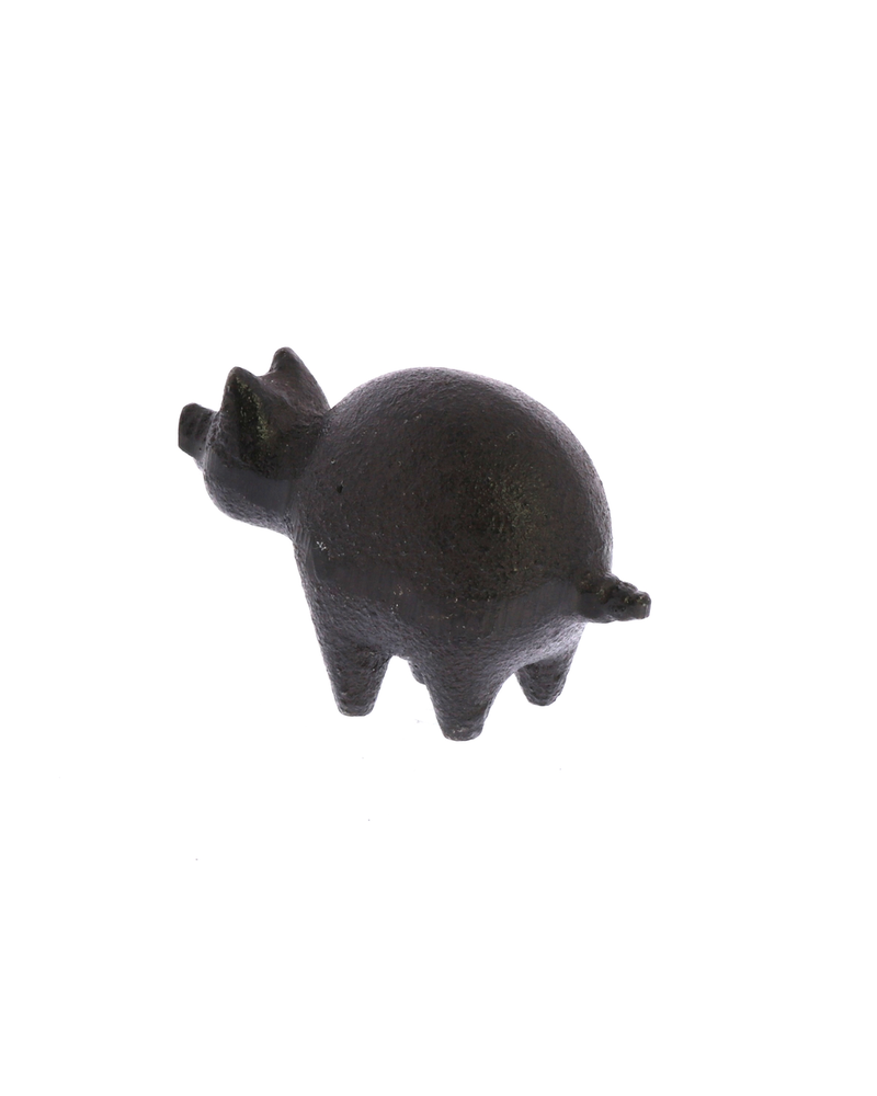 HomArt Botero Critter Pig, Cast Iron - Brown - Set of 2