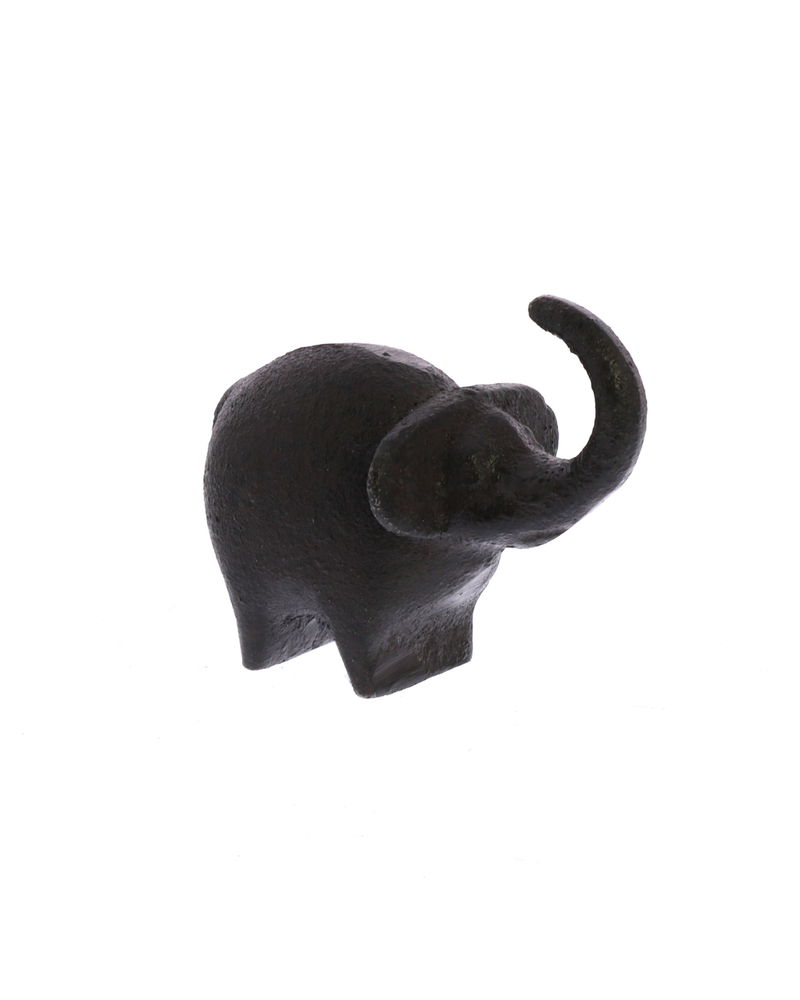 HomArt Botero Critter Elephant, Cast Iron - Brown - Set of 2