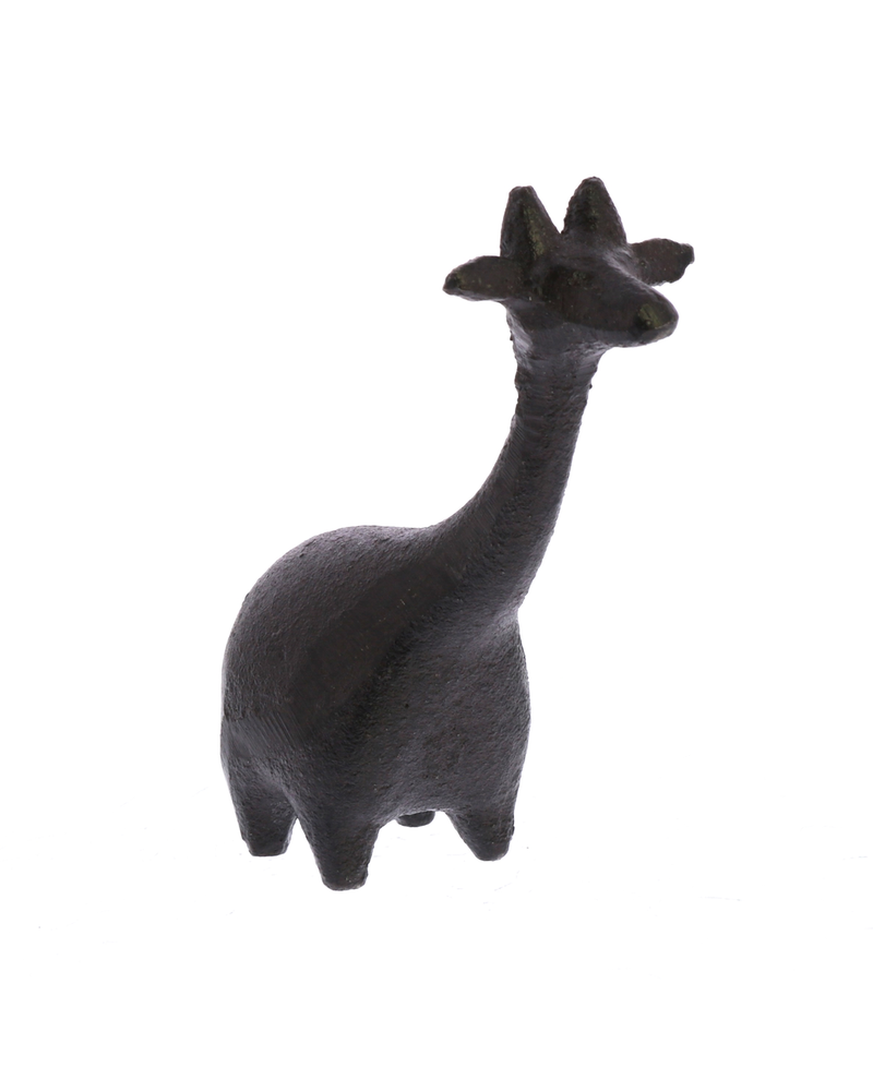 HomArt Botero Critter Giraffe, Cast Iron - Brown - Set of 2