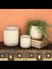 HomArt Cheyenne Cachepot, Ceramic - Med - White