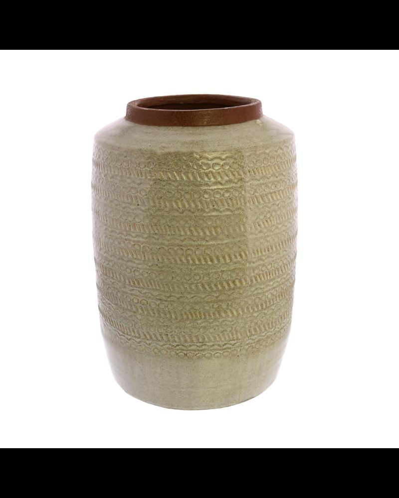 HomArt Kuta Vase, Ceramic - White