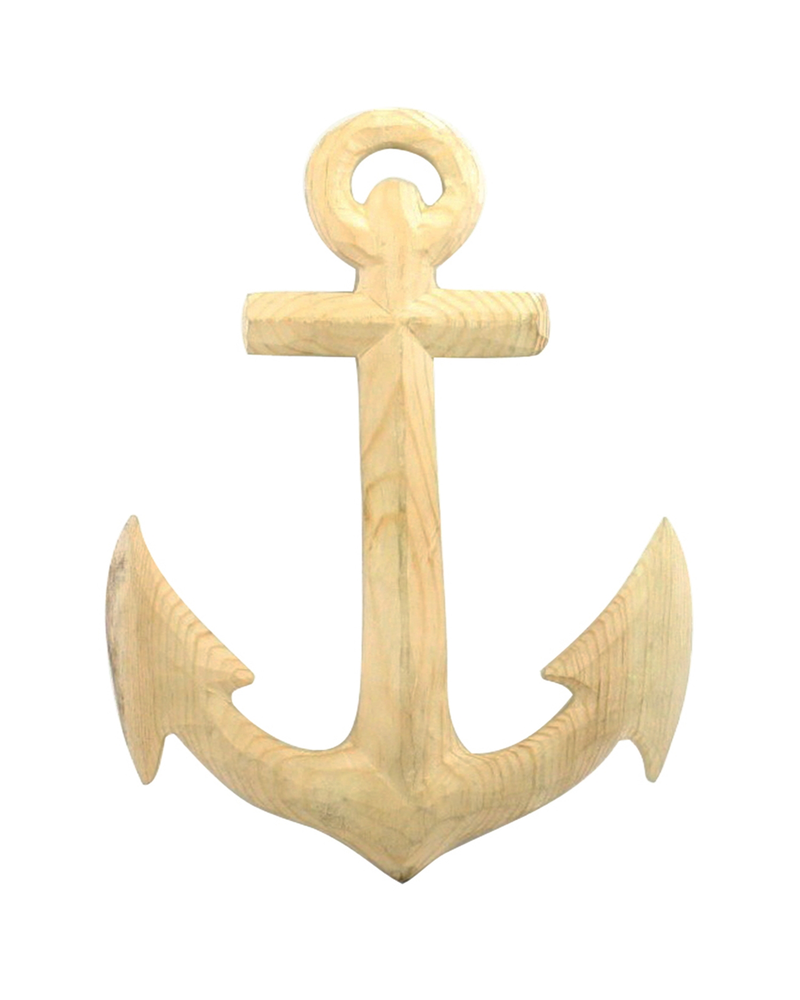 HomArt Carved Wood Anchor
