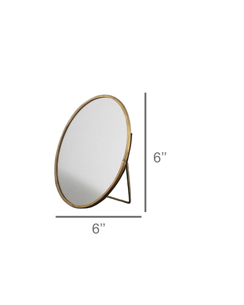 HomArt Monroe Easel Mirror, Brass - Lrg