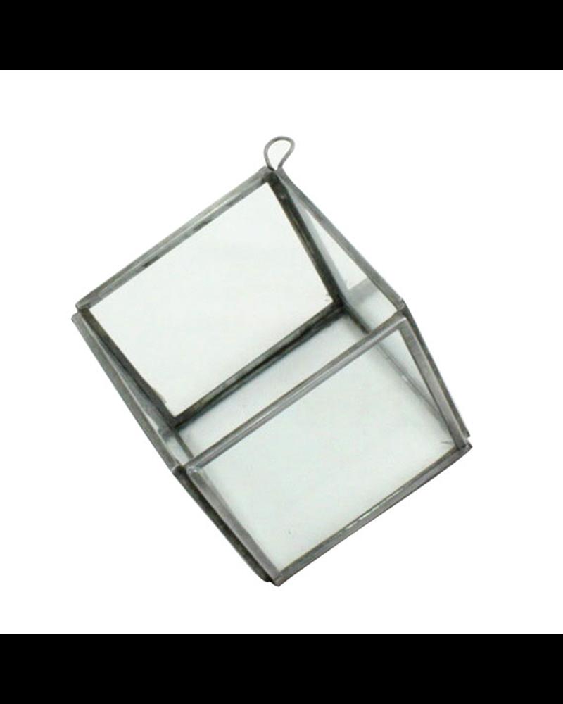 HomArt Pierre Geometric Terrarium - Cube - Zinc