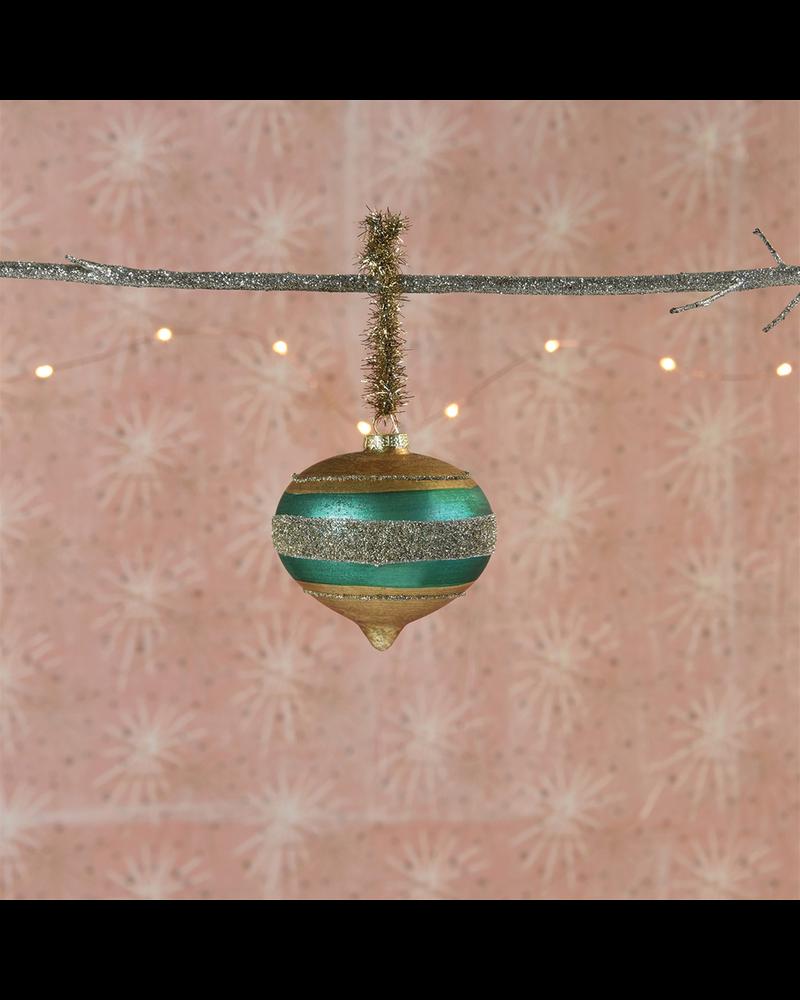 HomArt Clara Ornament, Glass - Teal