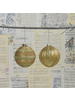 HomArt Sugarplum Ornaments - Gold Set of 2, Assorted - Gold