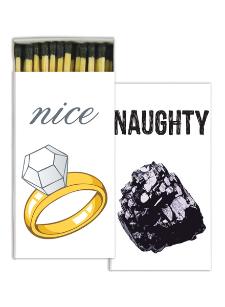 HomArt Naughty or Nice HomArt Matches - Set of 3 Boxes