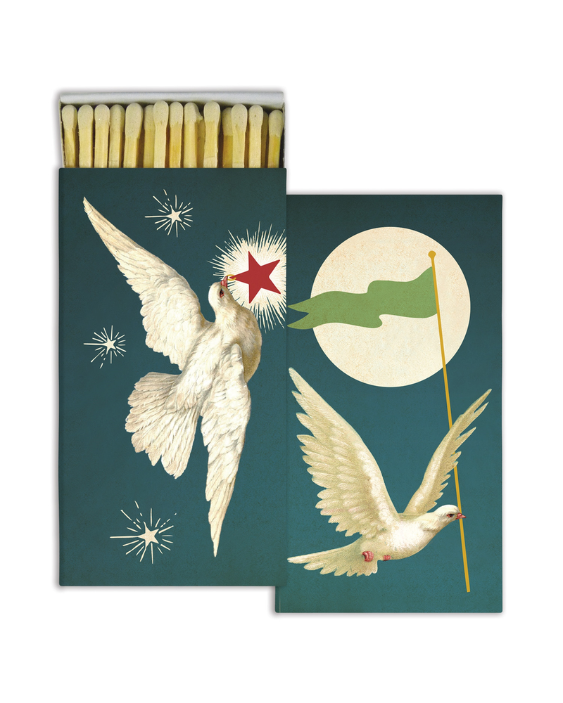 HomArt White Peace Doves HomArt Matches - Set of 3