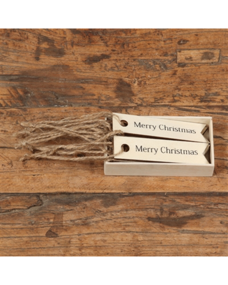 HomArt Merry Christmas Gift Wood Hangtag - Box of 12 - Set of 3 Boxes