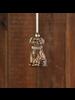 HomArt Dog Ornament, Glass - Gold - Set of 2