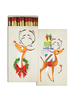 HomArt Matches - Holiday - Rudolph  - Set of 3