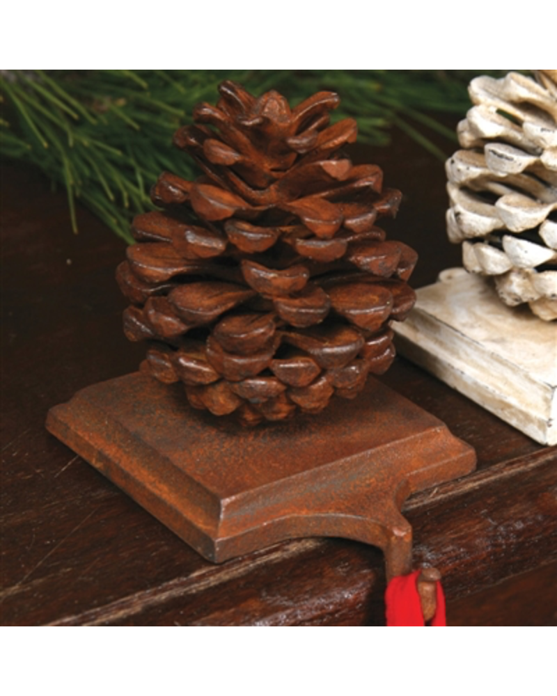 HomArt Stocking Holder Pinecone - Cast Iron Rust