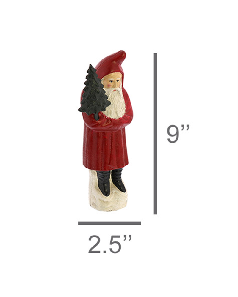 HomArt Santa with Tree, Cast Iron - Lrg