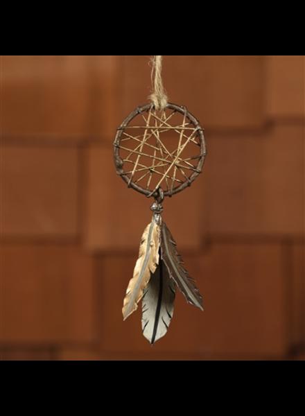 HomArt Painted Metal Dream Catcher Ornament
