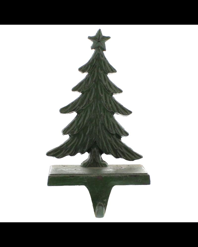 HomArt Antique Green Christmas Tree Cast Iron Stocking Holder