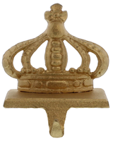 HomArt Gold Cast Iron King Crown Stocking Holder