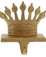 HomArt Gold Cast Iron Queen Crown Stocking Holder
