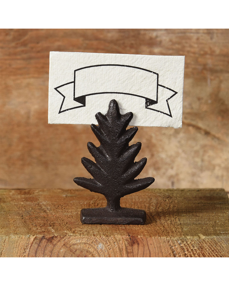 HomArt Brown Tree Cast Iron Place Card Holder - Set of 4